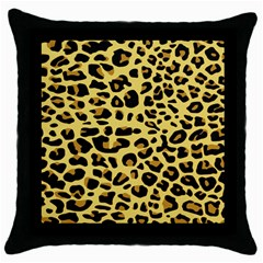 A Jaguar Fur Pattern Throw Pillow Case (Black)