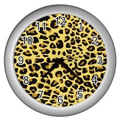 A Jaguar Fur Pattern Wall Clocks (Silver)