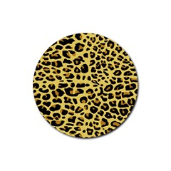 A Jaguar Fur Pattern Rubber Coaster (round)