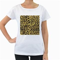 A Jaguar Fur Pattern Women s Loose Fit T Shirt (white)
