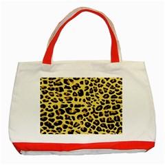 A Jaguar Fur Pattern Classic Tote Bag (Red)