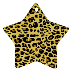 A Jaguar Fur Pattern Star Ornament (Two Sides)