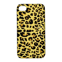 A Jaguar Fur Pattern Apple Iphone 4/4s Hardshell Case With Stand