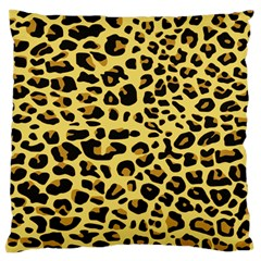A Jaguar Fur Pattern Large Flano Cushion Case (Two Sides)