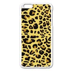 A Jaguar Fur Pattern Apple Iphone 6 Plus/6s Plus Enamel White Case
