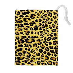 A Jaguar Fur Pattern Drawstring Pouches (Extra Large)