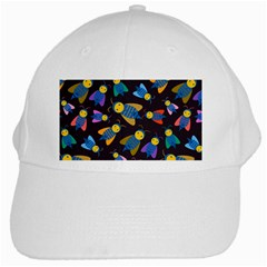 Bees Animal Insect Pattern White Cap