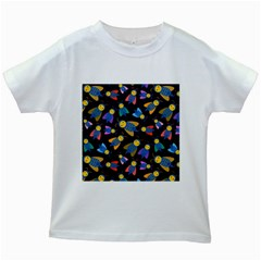 Bees Animal Insect Pattern Kids White T Shirts