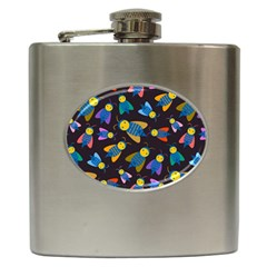 Bees Animal Insect Pattern Hip Flask (6 Oz)