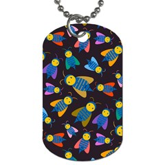 Bees Animal Insect Pattern Dog Tag (Two Sides)