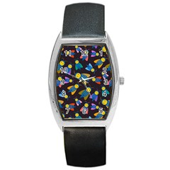 Bees Animal Insect Pattern Barrel Style Metal Watch