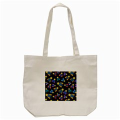 Bees Animal Insect Pattern Tote Bag (cream)