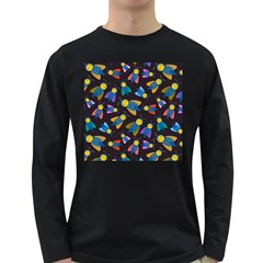 Bees Animal Insect Pattern Long Sleeve Dark T Shirts