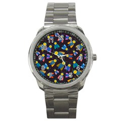 Bees Animal Insect Pattern Sport Metal Watch