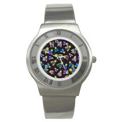 Bees Animal Insect Pattern Stainless Steel Watch