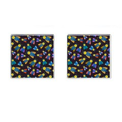 Bees Animal Insect Pattern Cufflinks (square)