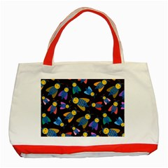 Bees Animal Insect Pattern Classic Tote Bag (red)