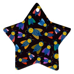 Bees Animal Insect Pattern Star Ornament (Two Sides)
