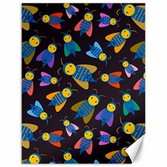 Bees Animal Insect Pattern Canvas 12  x 16