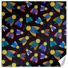 Bees Animal Insect Pattern Canvas 16  x 16