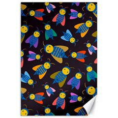 Bees Animal Insect Pattern Canvas 24  X 36