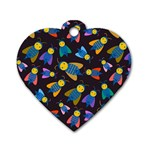 Bees Animal Insect Pattern Dog Tag Heart (Two Sides) Front