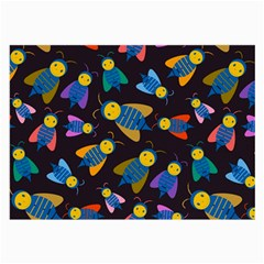 Bees Animal Insect Pattern Large Glasses Cloth (2-Side)