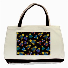 Bees Animal Insect Pattern Basic Tote Bag (Two Sides)