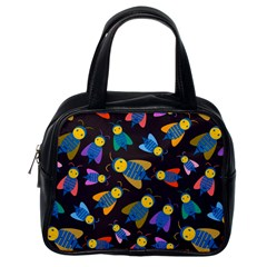 Bees Animal Insect Pattern Classic Handbags (One Side)