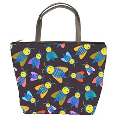 Bees Animal Insect Pattern Bucket Bags