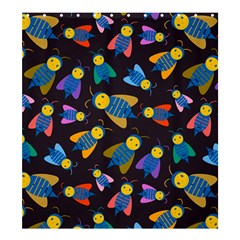 Bees Animal Insect Pattern Shower Curtain 66  x 72  (Large)