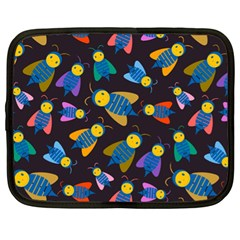 Bees Animal Insect Pattern Netbook Case (XL)