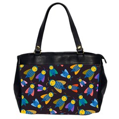 Bees Animal Insect Pattern Office Handbags (2 Sides)