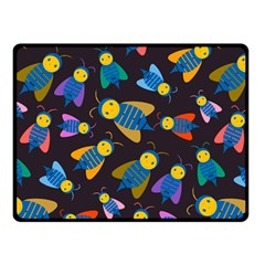 Bees Animal Insect Pattern Fleece Blanket (Small)