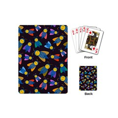 Bees Animal Insect Pattern Playing Cards (Mini)