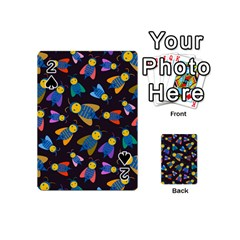 Bees Animal Insect Pattern Playing Cards 54 (Mini)