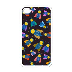 Bees Animal Insect Pattern Apple Iphone 4 Case (white)