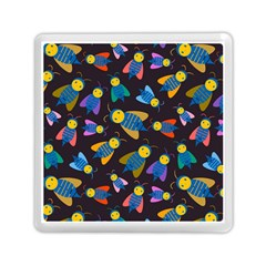 Bees Animal Insect Pattern Memory Card Reader (Square)