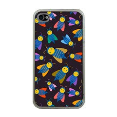 Bees Animal Insect Pattern Apple Iphone 4 Case (clear)