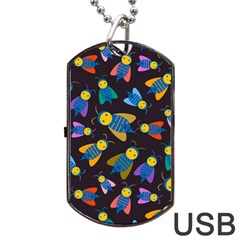 Bees Animal Insect Pattern Dog Tag Usb Flash (one Side)