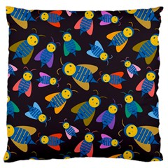 Bees Animal Insect Pattern Large Cushion Case (one Side)