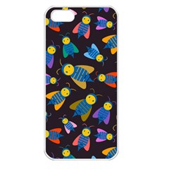Bees Animal Insect Pattern Apple Iphone 5 Seamless Case (white)