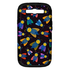 Bees Animal Insect Pattern Samsung Galaxy S III Hardshell Case (PC+Silicone)