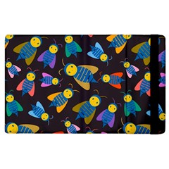 Bees Animal Insect Pattern Apple Ipad 3/4 Flip Case