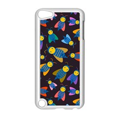 Bees Animal Insect Pattern Apple iPod Touch 5 Case (White)