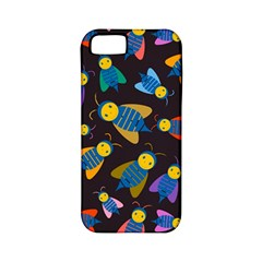 Bees Animal Insect Pattern Apple Iphone 5 Classic Hardshell Case (pc+silicone)