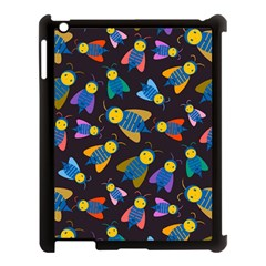 Bees Animal Insect Pattern Apple iPad 3/4 Case (Black)
