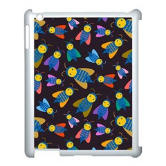Bees Animal Insect Pattern Apple iPad 3/4 Case (White)