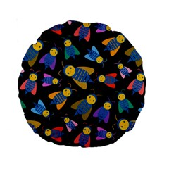 Bees Animal Insect Pattern Standard 15  Premium Round Cushions