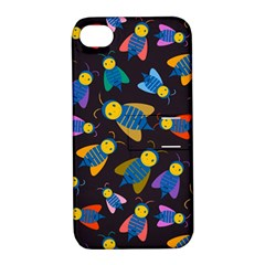 Bees Animal Insect Pattern Apple iPhone 4/4S Hardshell Case with Stand